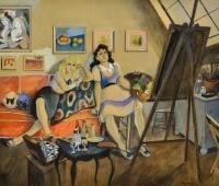 Modelos-en-el-taller-del-Artista-Opisso-Sala-Ricard