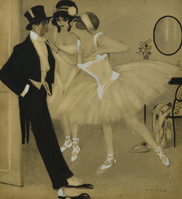 Bailarinas y Dandi - Opisso Sala, Ricard