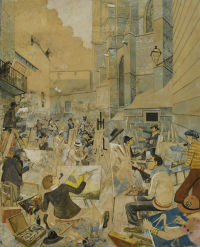 Pintores en la Catedral - Opisso Sala, Ricard