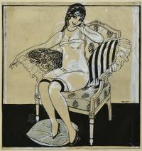 Dama en un sillon - Opisso Sala, Ricard