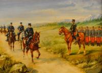 escuela-europea-del-siglo-xix_pase-de-soldados-a-caballo